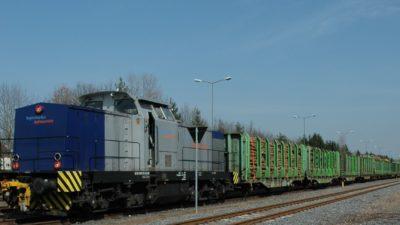 Holzzug bayernhafen Aschaffenburg