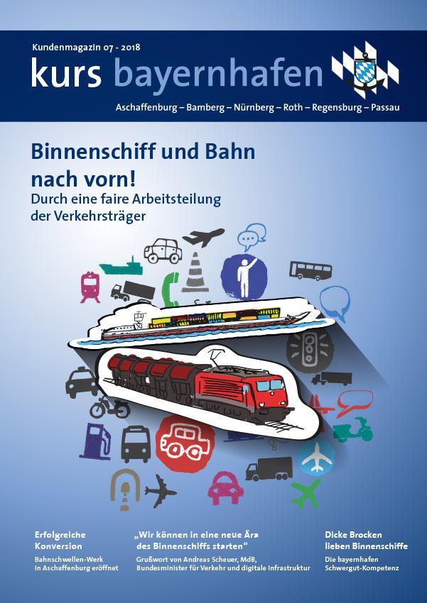 kurs bayernhafen Kundenmagazin 07 2018