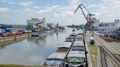 Umschlag Osthafen bayernhafen Regensburg