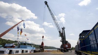 Einweihung bayernhafen Passau Schalding