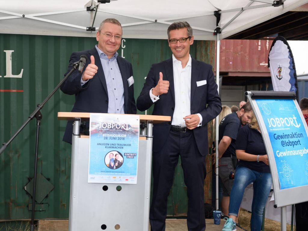 Eröffnung Jobport bayernhafen Nürnberg