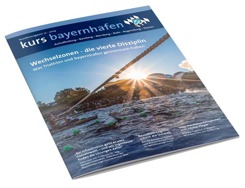 Titel Kundenmagazin kurs bayernhafen 12/2019