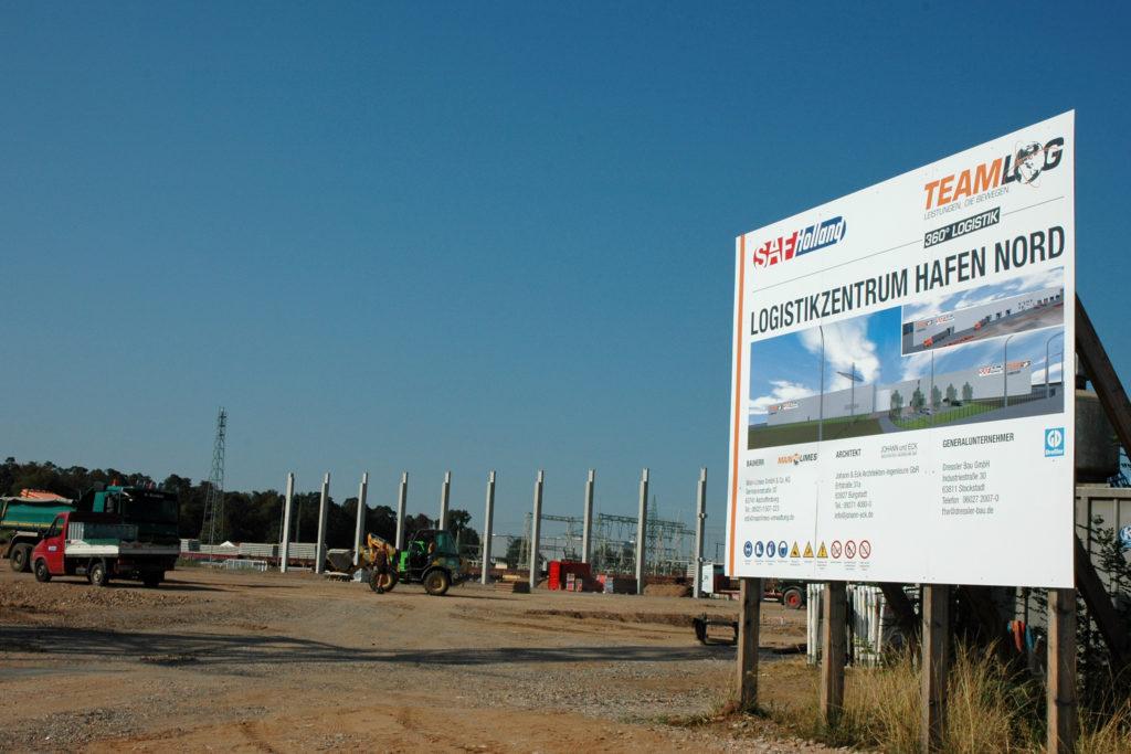 Baustelle Logistikhalle bayernhafen Aschaffenburg