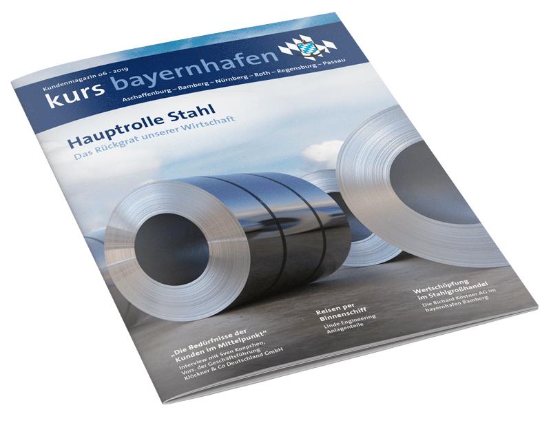 Titel Kundenmagazin kurs bayernhafen 06/2019