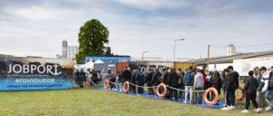 Jobmesse Jobport 2019 bayernhafen Nürnberg, Eröffnung, Eingangsbereich