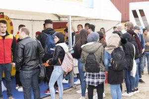 Jobmesse Jobport 2019 bayernhafen Nürnberg, Jugendliche informieren sich