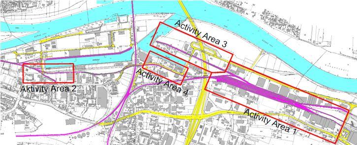 CEF Karte Schiene bayernhafen Regensburg