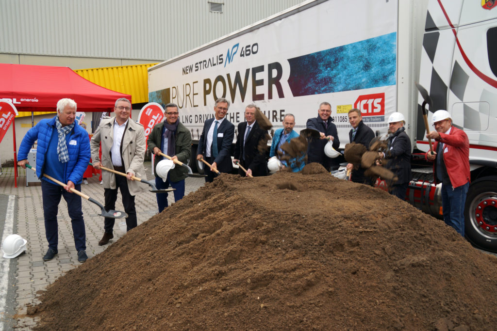 Spatenstich Rödl Energie LNG Tankstelle
