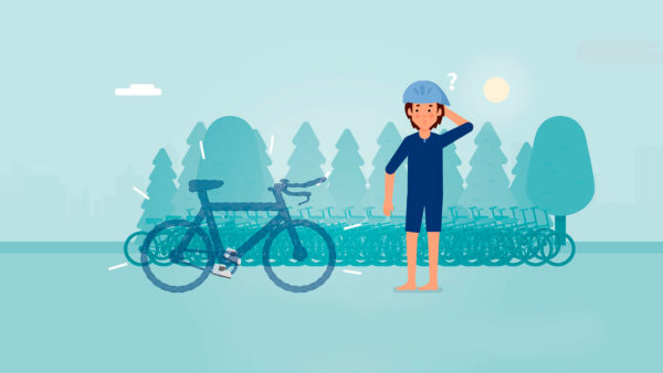 Comic Mann Athlet Rad Triathlon