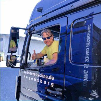 LKW-Fahrer Zellner Recycling GmbH