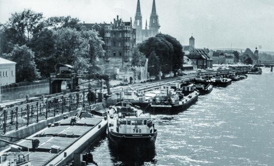Hafen Regensburg Donaulände_1960er