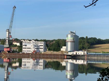 Pelletslager im bayernhafen Passau