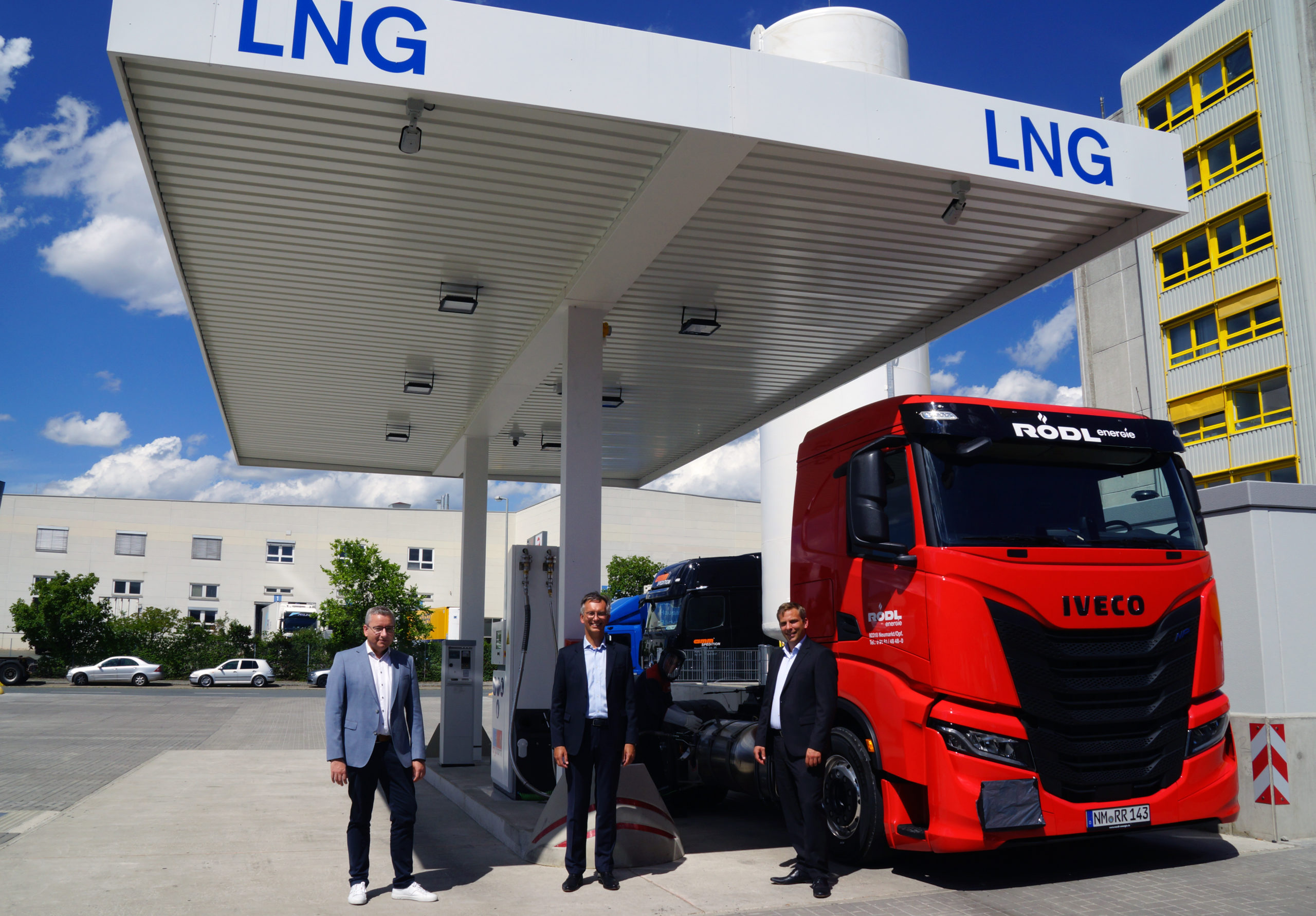 Inauguration of the LNG service station at bayernhafen Nürnberg