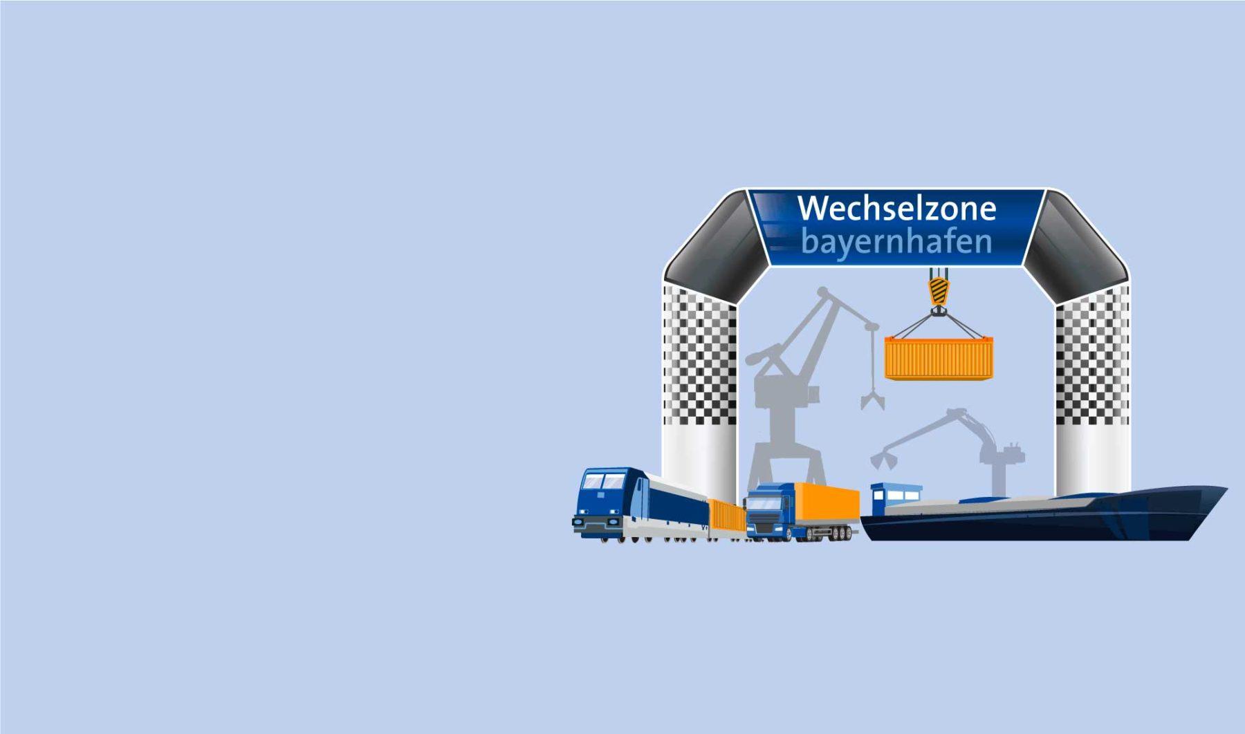 Wechselzone bayernhafen Grafik