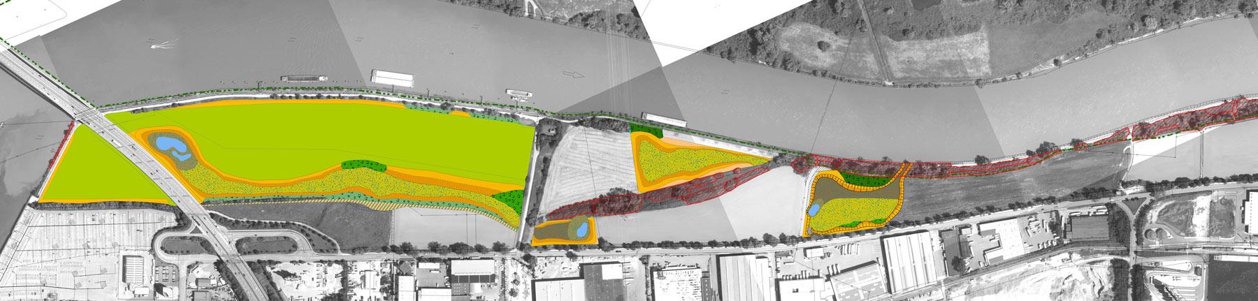 Konzeptentwurf von Bosch & Partner zu Zielbiotopen für das Ökokonto Regensburg