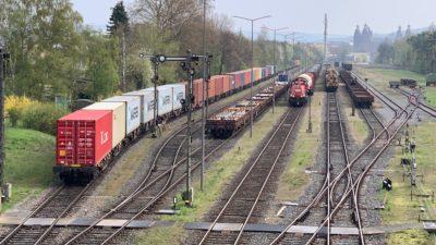 Hafenbahnhof im bayernhafen Aschaffenburg