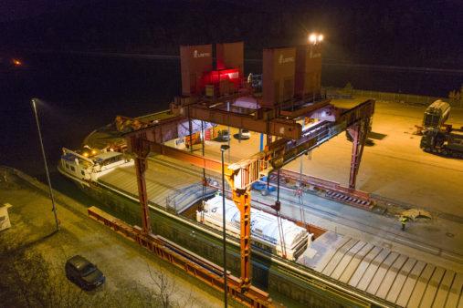 bayernhafen Nürnberg Trafo Schwergut