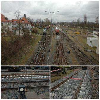Baufortschritt im Hafenbahnhof Aschaffenburg