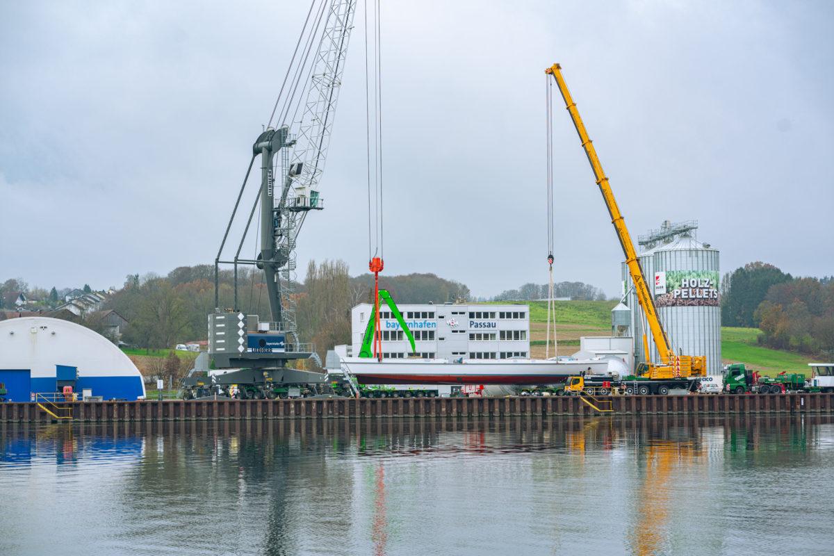 bayernhafen Passau Schwergut