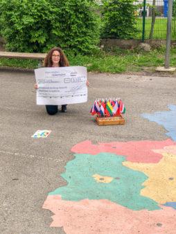 Spendenübergabe an die Grund- und Mittelschule Bamberg-Gaustadt