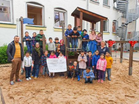 Spendenübergabe an Kindertagesstätte Sternenhimmel Hasstraße