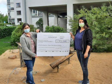 Spendenübergabe an die Kita St. Martin, Haus Don-Bosco-Straße